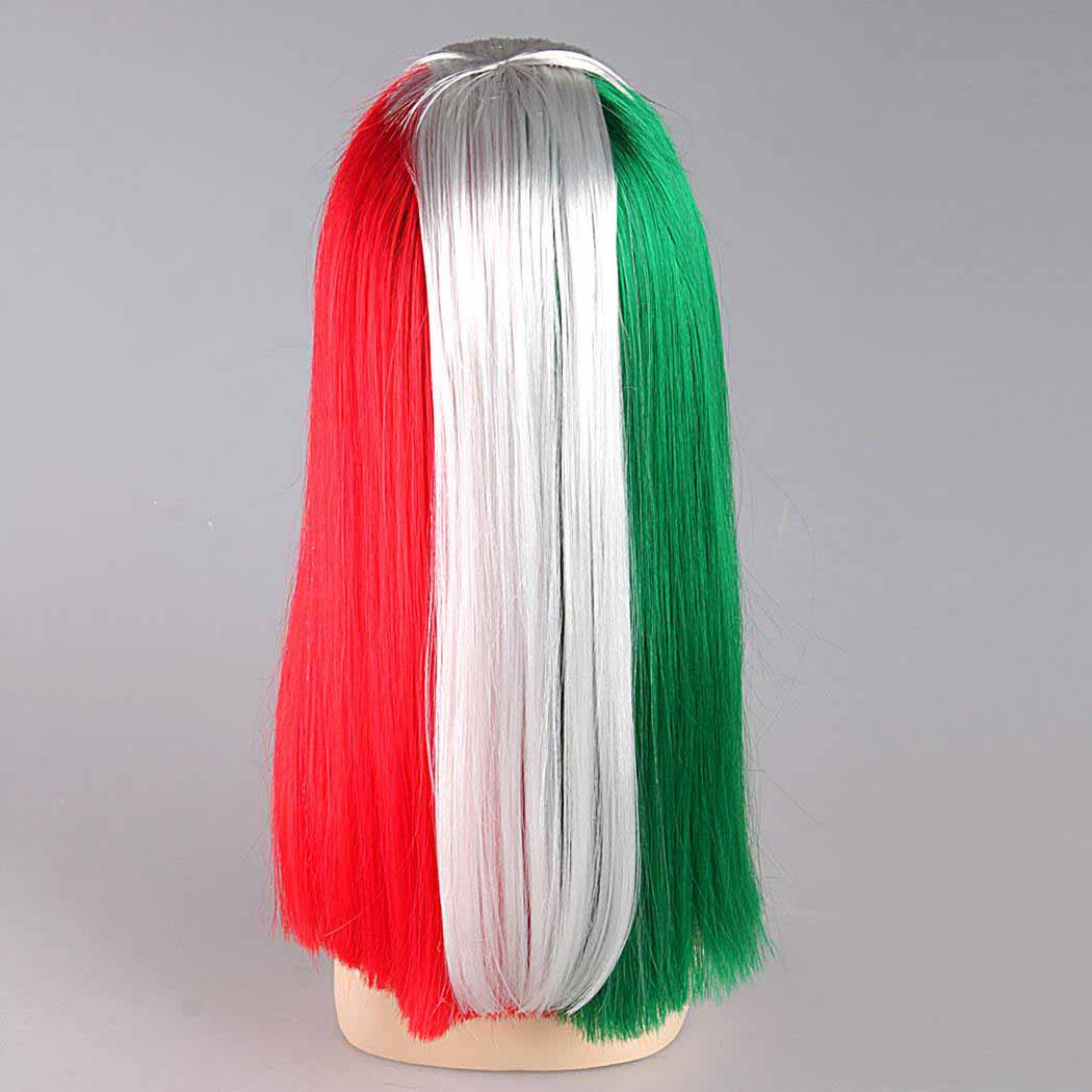 flagwigs, football wigs, fan wigs, afro wigs, mullet wigs, bob wigs, euro wigs,  premier league wigs,Italy Long Wig