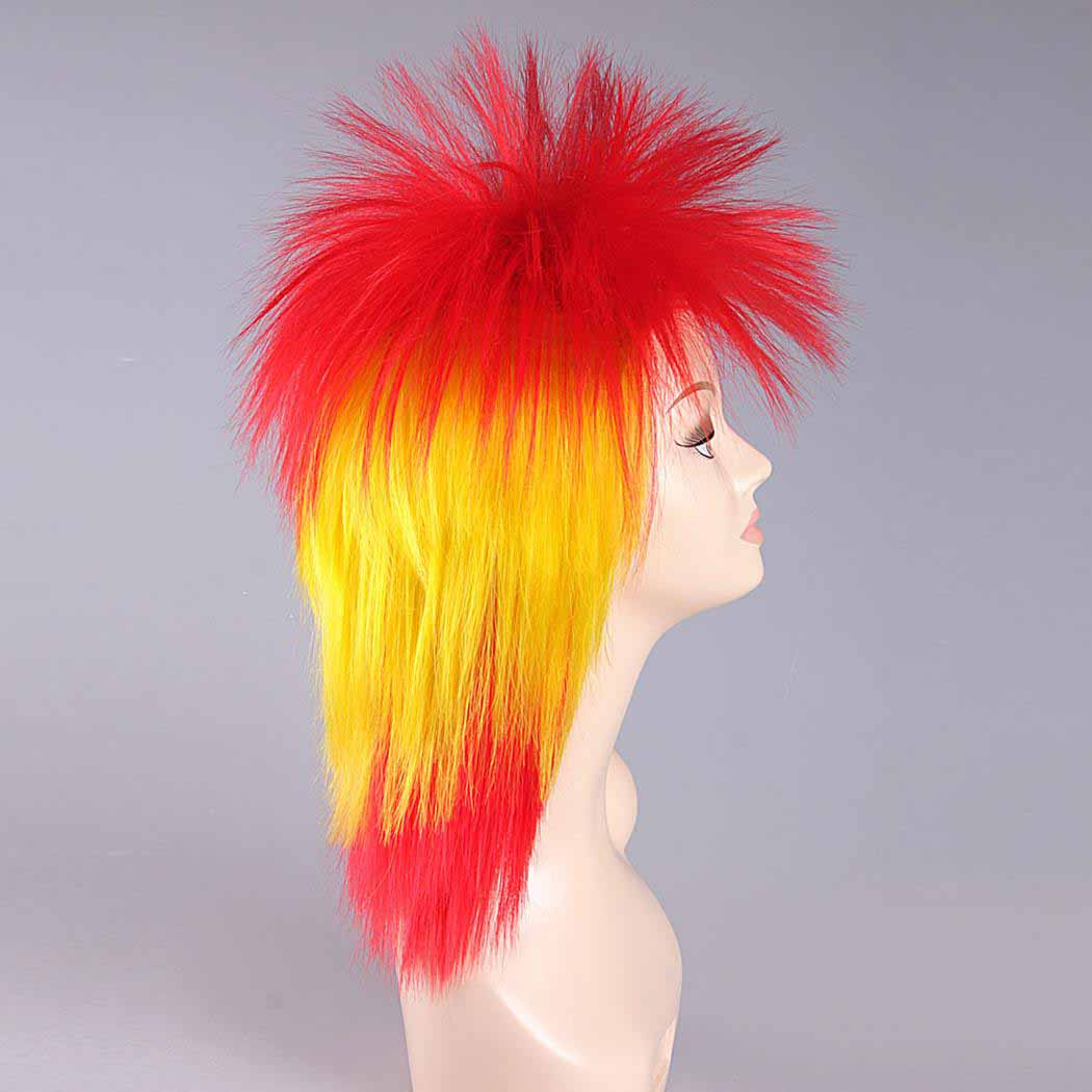 flagwigs, football wigs, fan wigs, afro wigs, mullet wigs, bob wigs, euro wigs,  premier league wigs,Spain Mullet Wig