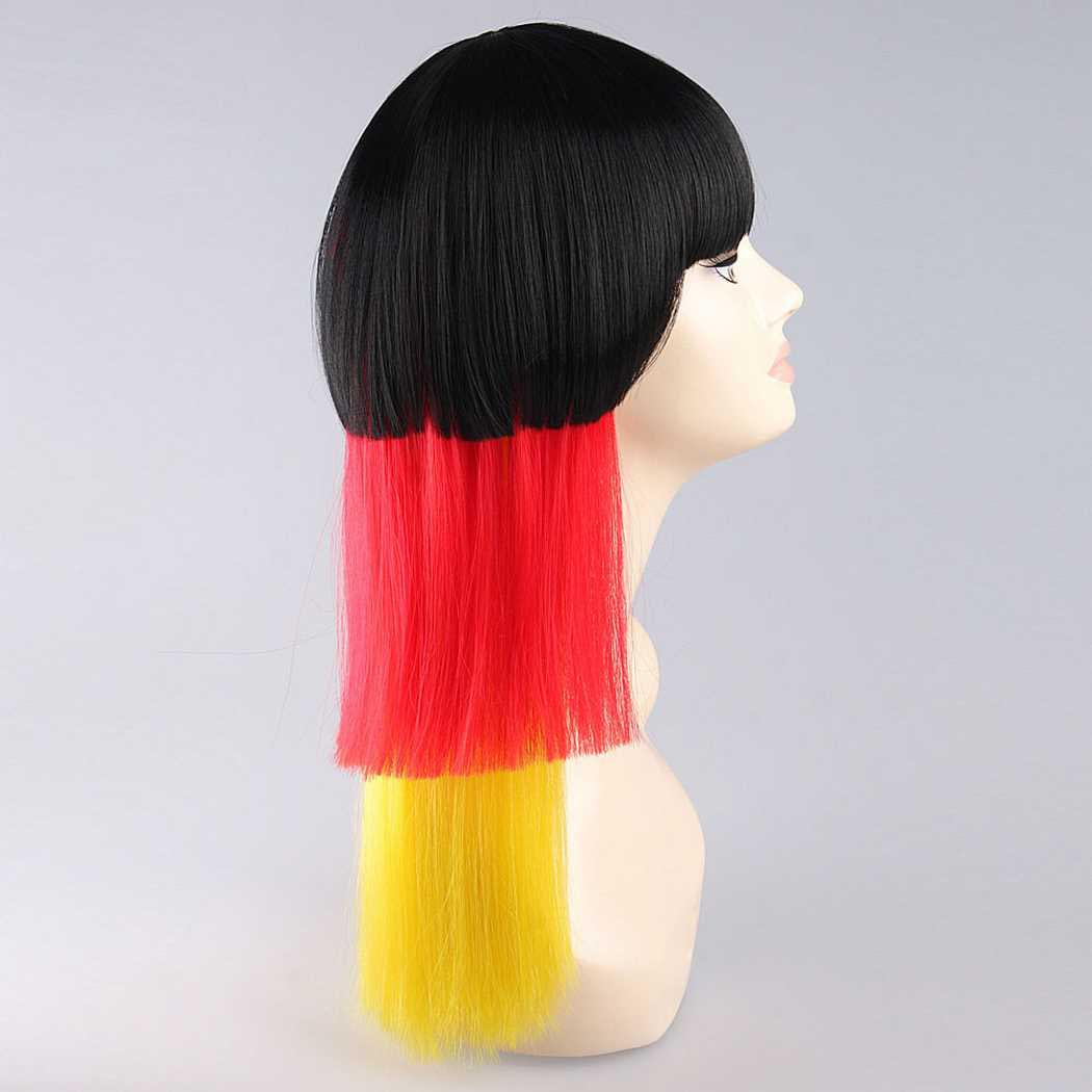 flagwigs, football wigs, fan wigs, afro wigs, mullet wigs, bob wigs, euro wigs,  premier league wigs,Germany Long Wig