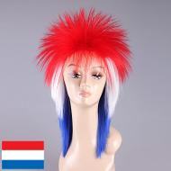 flagwigs, football wigs, fan wigs, afro wigs, mullet wigs, bob wigs, euro wigs,  premier league wigs,Holland Mullet Wig