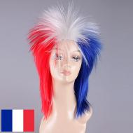 flagwigs, football wigs, fan wigs, afro wigs, mullet wigs, bob wigs, euro wigs,  premier league wigs,France Mullet Wig