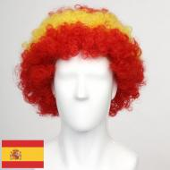 flagwigs, football wigs, fan wigs, afro wigs, mullet wigs, bob wigs, euro wigs,  premier league wigs,Spain Afro Wig