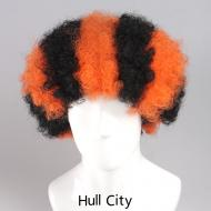 flagwigs, football wigs, fan wigs, afro wigs, mullet wigs, bob wigs, euro wigs,  premier league wigs,Hull City  Afro Wig